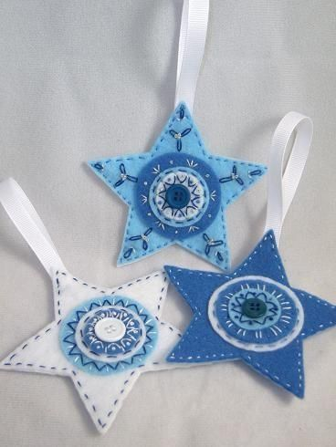 76 best Christmas Star Ornaments images on Pinterest  Christmas