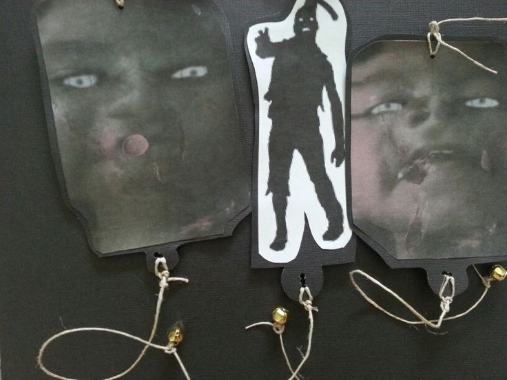 Zombie targets... used zombify yourself app and the walking dead nerf crossbow. Super fun!