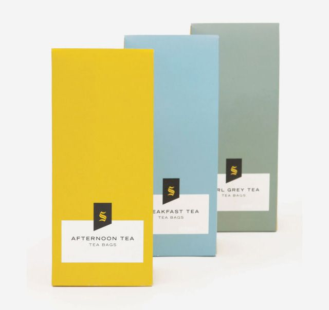 Stunning colourful tea packaging produced for London department store Selfridges.