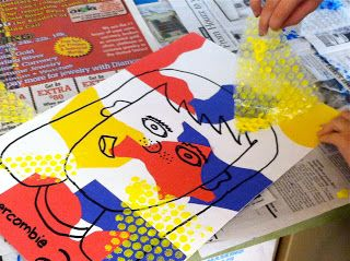 Olive ART! Do You???: 5th Grade Lichtenstein comic inspired portraits