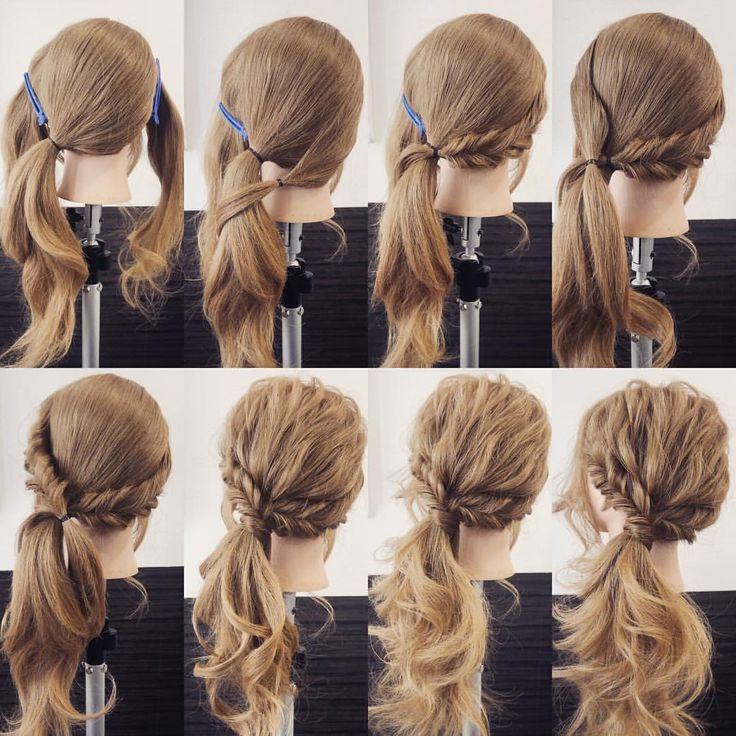 いいね!203件、コメント1件 ― ミント代表 山口一人×ヘアアレンジさん(@mint_yamaguchi)のInstagramアカウント: 「簡単サイドテール✨ サイドを残して横目にまとめます。 サイドの髪はこの辺でまとめて、 くるりんぱ2回。 反対もこの辺でまとめて、 くるりんぱ2回。 一個にまとめて少し崩して、…」