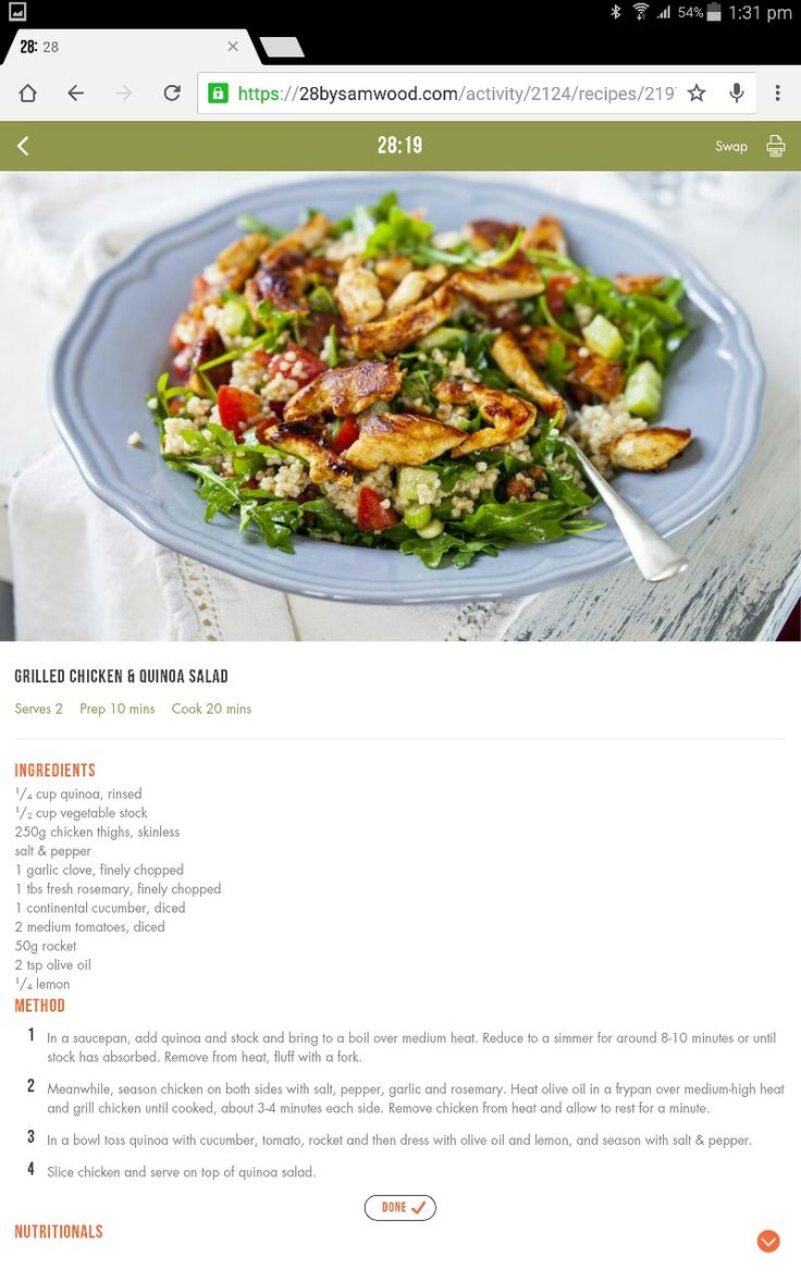 Chicken & quinoa salad