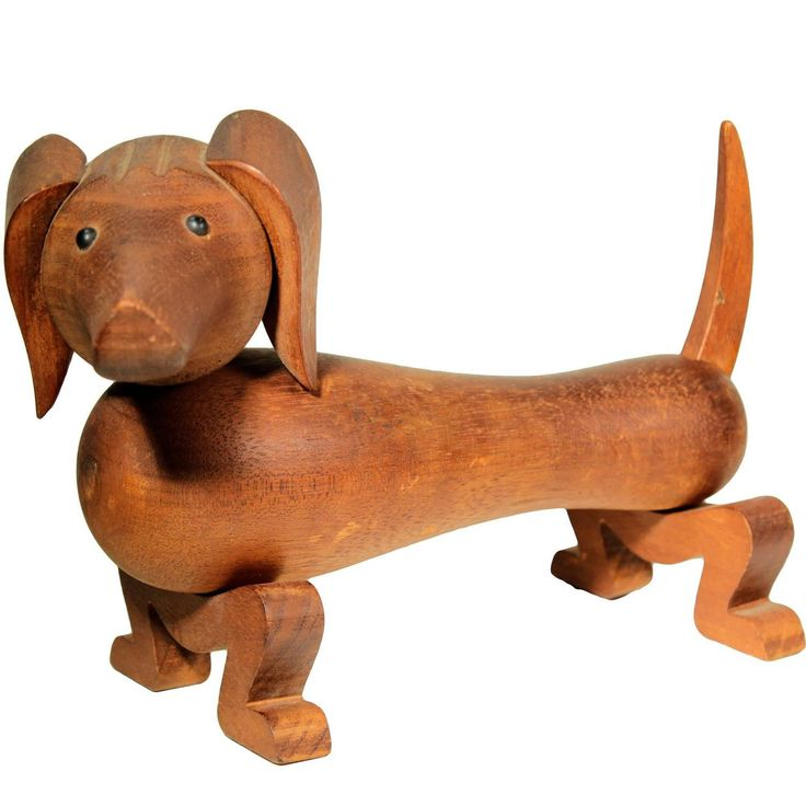 Rare Vintage Kay Bojesen Toy Dog, 1934 | See more antique and modern Sculptures at https://www.1stdibs.com/furniture/decorative-objects/sculptures