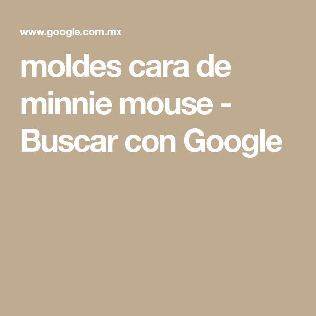 moldes cara de minnie mouse - Buscar con Google