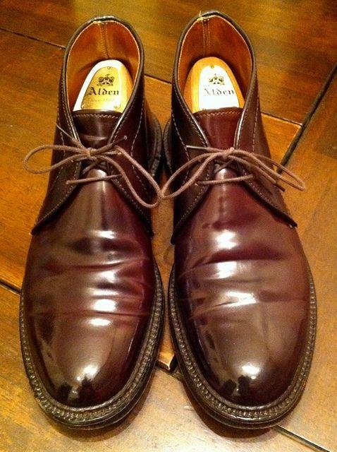 Alden / Shell Cordovan Chukka boots Cordovan