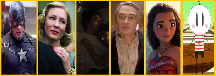 [Top 10 Individual] los colaboradores muestran su top personal de 2016. #BestMovies2016