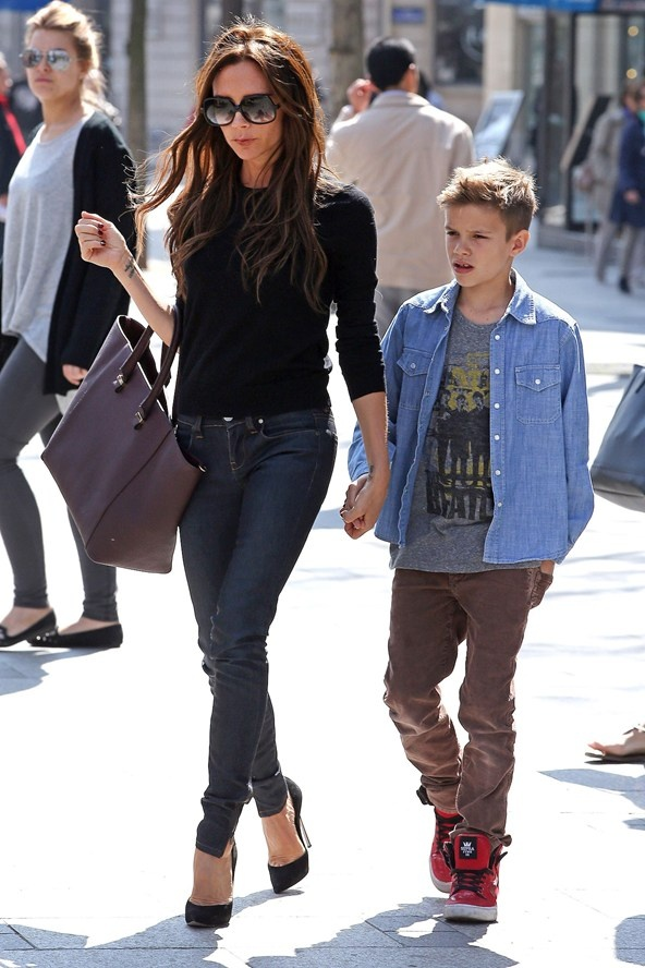 Romeo Beckham looks hotter than ALL of the guys at my school. And he's 11. Fuck logic? No.  It's logical because he's a beckham. ;)