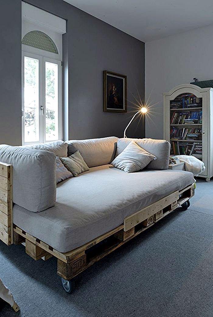 Fauteuil Pas Cher Design En Palette Salon Avec Meubles En Palette Diy Pallet Sofa Diy Furniture Couch Couch Furniture