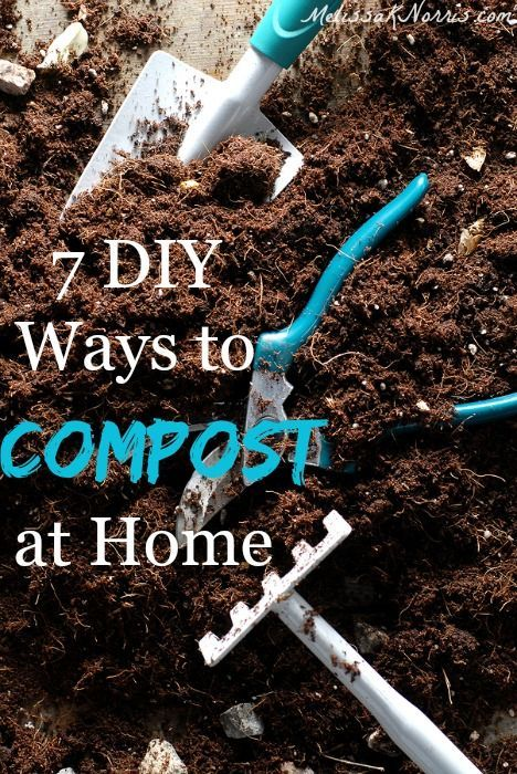7 DIY ways to compost at home. Get your garden soil in the best shape with these easy ways to begin composting at home. P.S. there's a compost tumbler up for grabs in a giveaway! #OrganicGarden