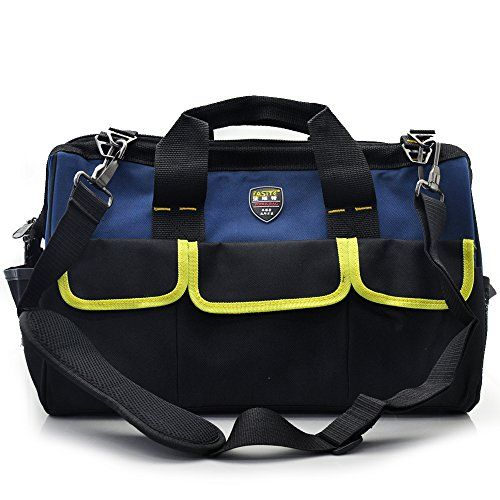 Tool Bag Tote Tools Accessories Organizer Insert Shoulder Strap Pouch Storage Bags for Electricians Construction Carpenter 14Inch *** You can find more details by visiting the image link.