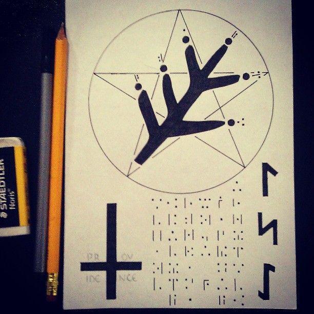 My Elder Sign print, inspired by H P Lovecraft and August Derleth
