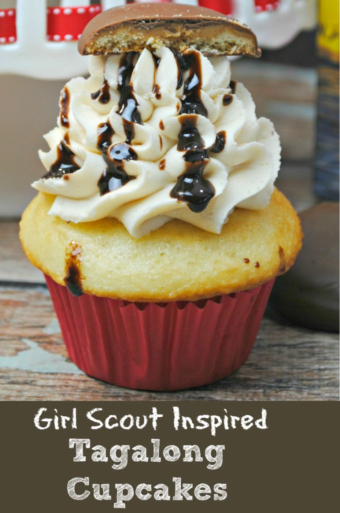 Girl Scout Inspired Tagalong Cupcakes Recipe | Yummy Recipes ...