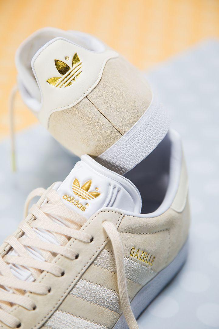 adidas Gazelle W (sand white) | Girls sneakers, Adidas