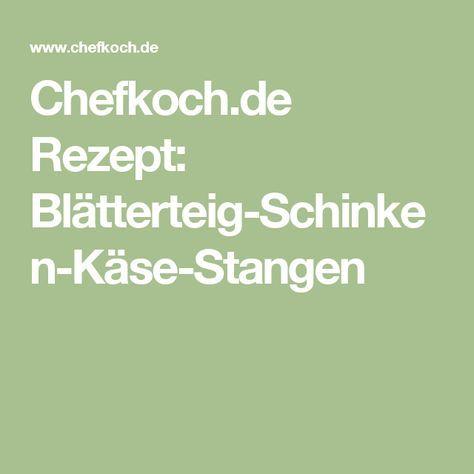 Chefkoch.de Rezept: Blätterteig-Schinken-Käse-Stangen