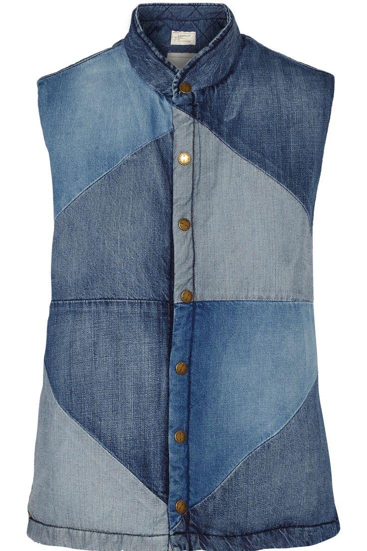 CURRENT/ELLIOTT Patchwork denim vest $134.10 http://www.theoutnet.com/products/699537