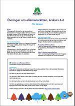 Åk 4-6, Lärarmaterial, övningar till Allemansrätten