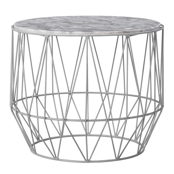 Kaffebord Jernramme grå marmor Bloomingville. Gratis fragt. 1 - 3 dages levering til adressen - fuld returret. Indret dit hjem efter de nyeste trends.