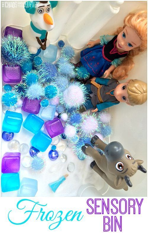 Frozen inspired sensory bin