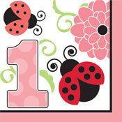 Ladybug 1st Birthday Party Supplies