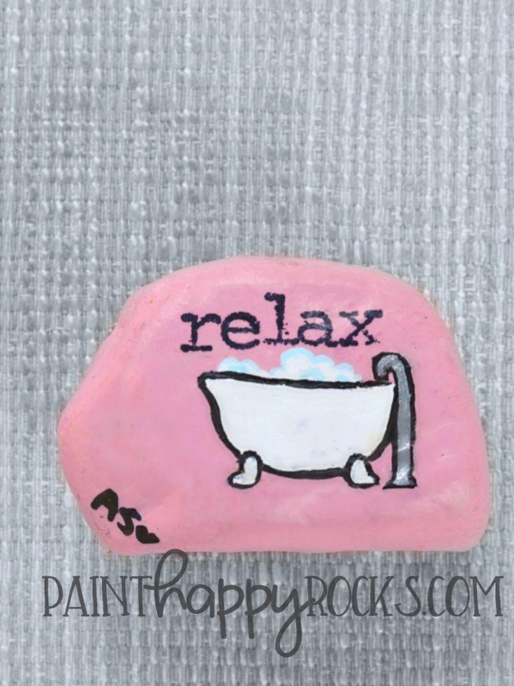 Rock Painting Ideas | Bubble Bath Painted Rocks at PaintHappyRocks.com #PaintHappy