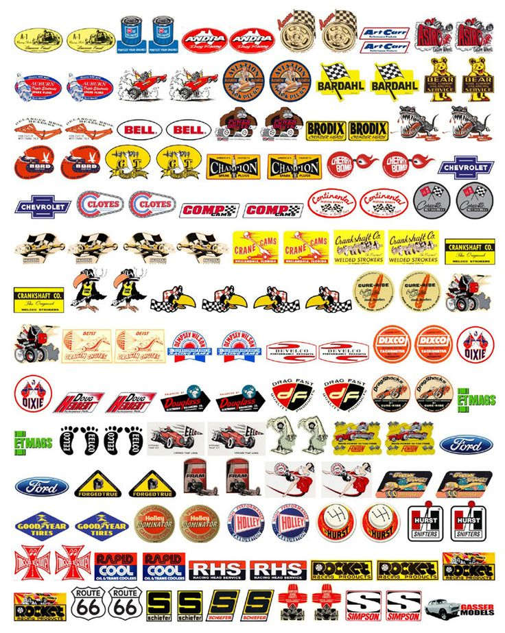 1 18 speed equipment decals vol 2