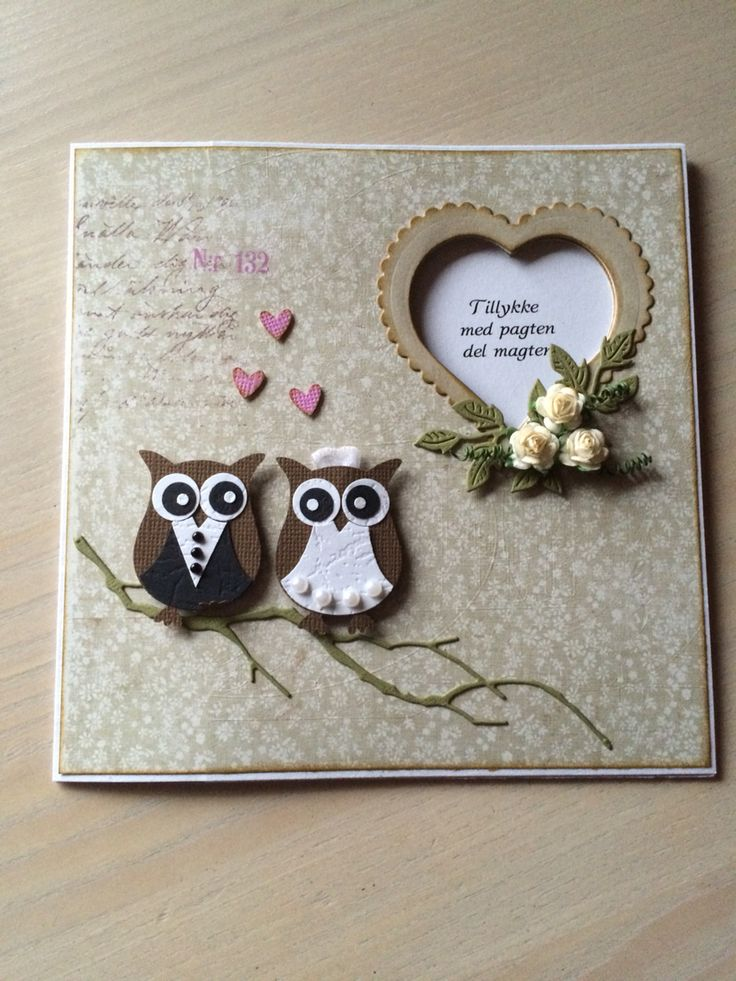 Ugle kort bryllup