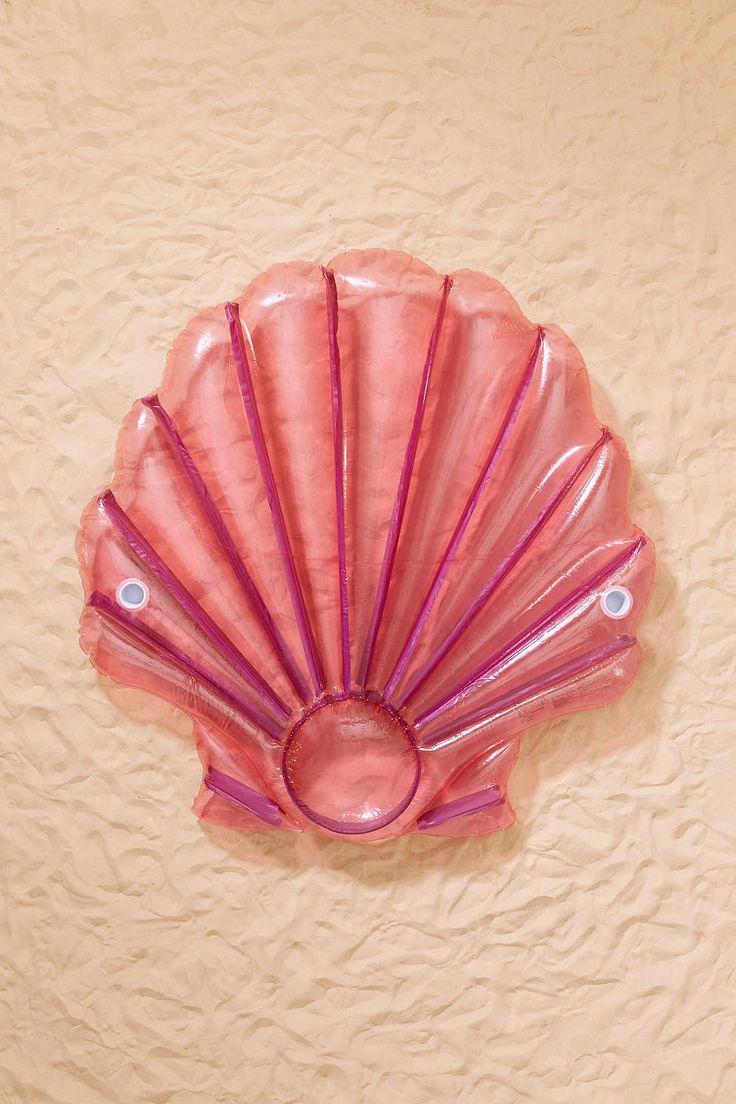 Flotteur de piscine en forme de coquillage