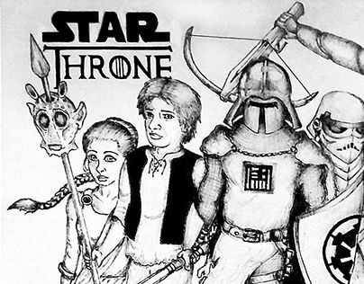 """Check out new work on my @Behance portfolio: """"Star Wars Medieval Times (Star Throne)"""" http://on.be.net/1F2PdWF"""