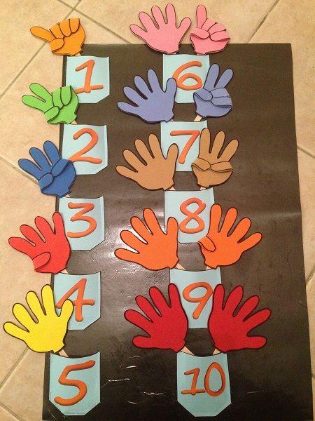 μαθαίνοντας τους αριθμούς στο νηπιαγωγείο