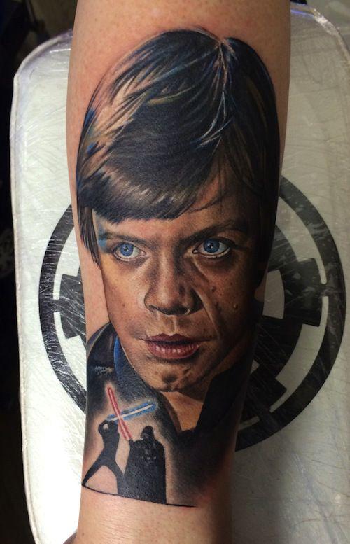 Luke skywalker by chris jones horror fantasy realism for Luke skywalker tattoo