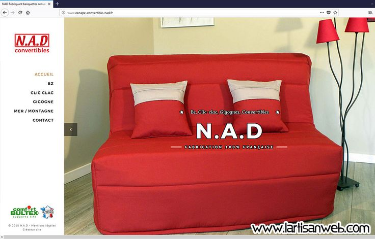 Bienvenue à l'entreprise NAD Convertibles : un fabriquant de banquettes convertibles, bz, clic-clac et autres lits gigogne à visiter ici : http://www.canape-convertible-nad.fr/