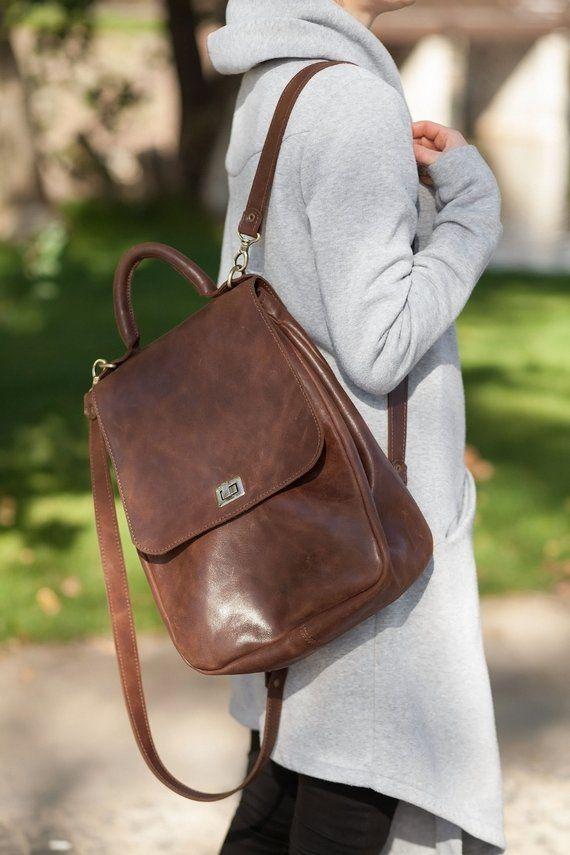 9a768059cc leather women backpack women leather rucksack woman rucksack handmade  backpack custom brown backpack
