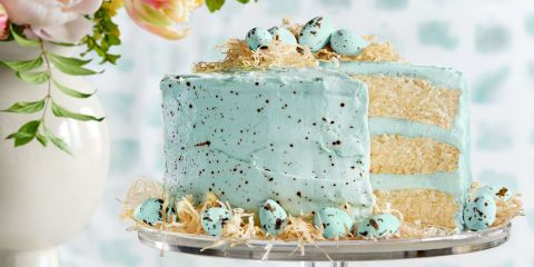 Recipe for speckled malted coconut cake. Use coconut oil instead of canola oil for a healthier recipe.