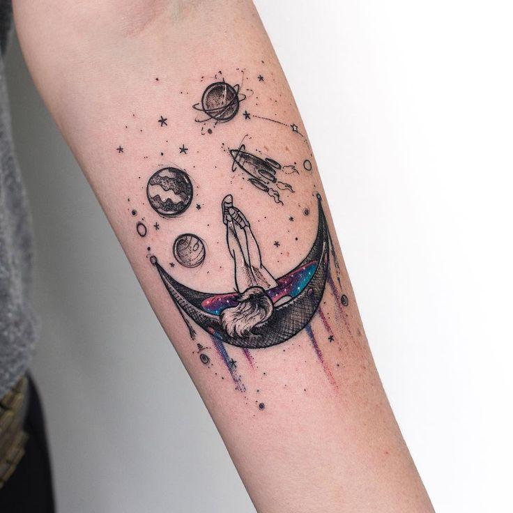Galaxy girl tattoo By: Robson Carvalho
