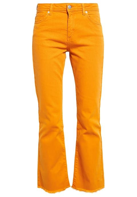Mint&Berry Flared Jeans inca gold yellow orange pants jeans broek spijkerbroek goud oranje geel Zalando.nl