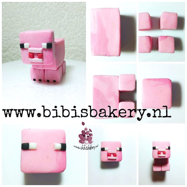 This is a Minecraft figure, here is the piggie pictorial, xxx Bibi  #bibisbakery https://www.facebook.com/bibisbakery.nl