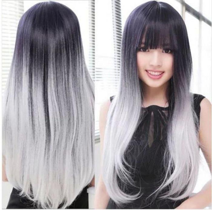 Серые волосы фото