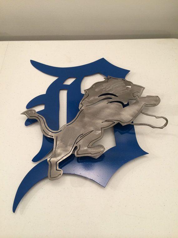 Detroit Lions Wall Art Metal Sign Custom By Metalartdesignz