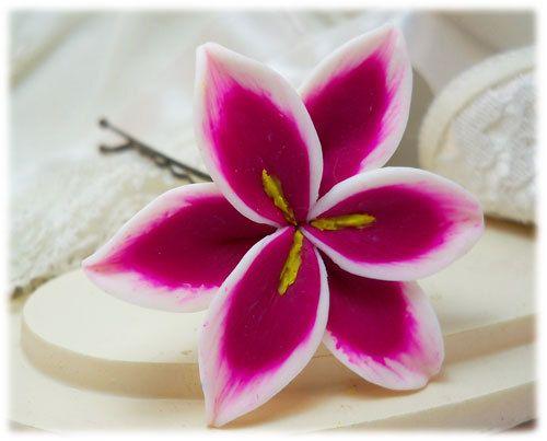 stargazer lily hair pins - pink