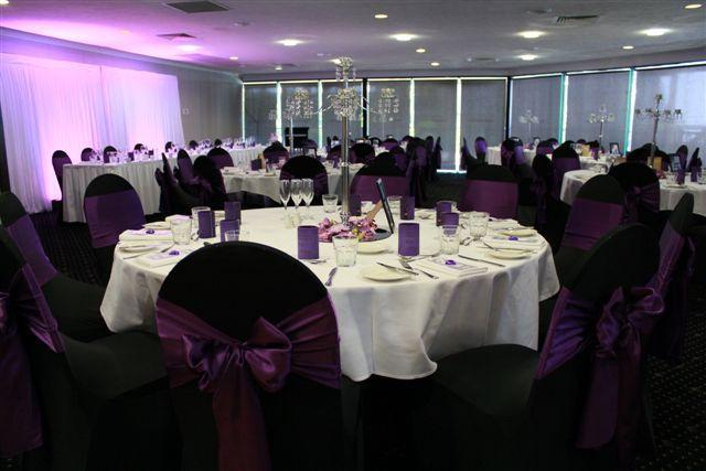 Mercure Townsville - Lakes Room - Wedding Reception - Dark Purple - Lighting - Elgant