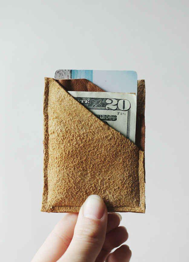 Billetera de gamuza