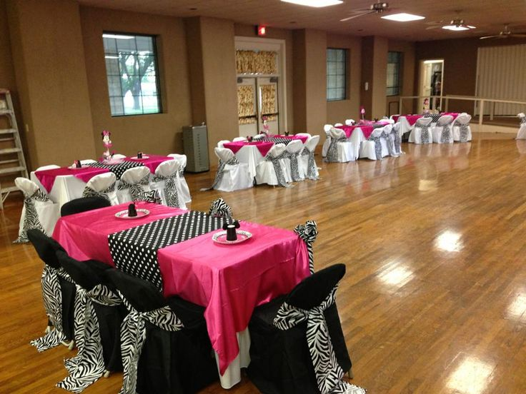 Perfect decor for a bachelorette party zebra themed party hot pink birthday party or fuschia
