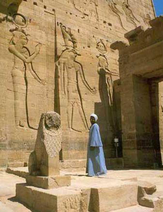 First Pylon - Temple of Isis | nanti kita ketemu Isis, Horus, Osiris di rumah mereka.