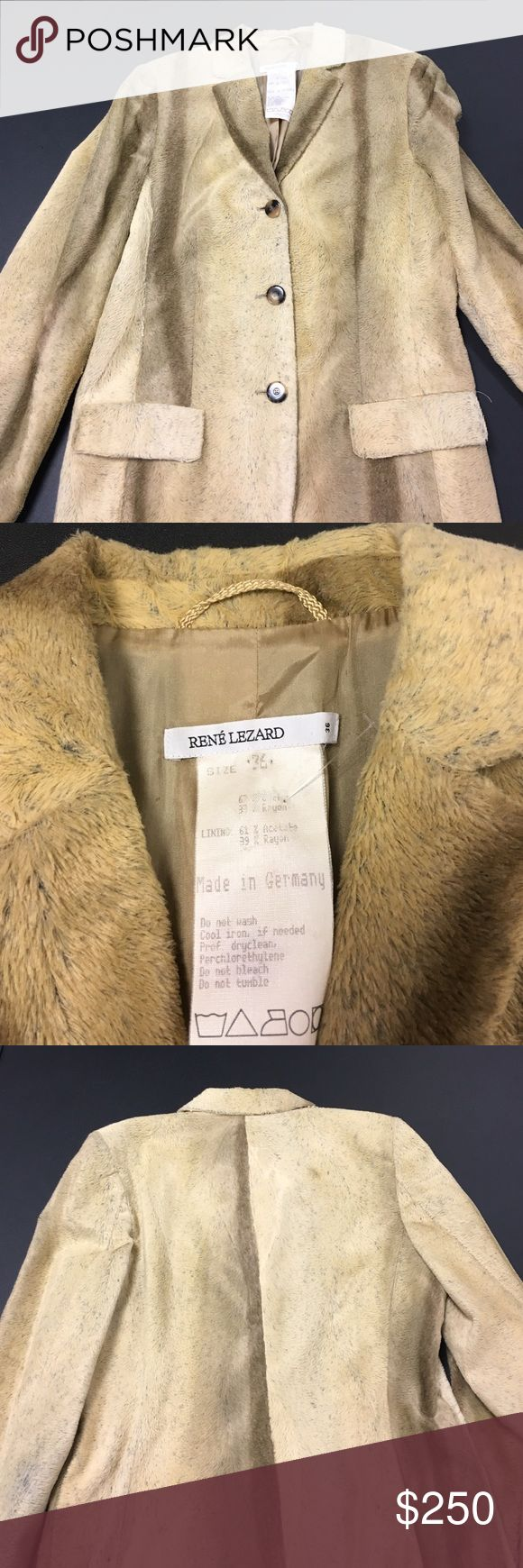 RENE LEZARD FAUX FUR COAT Made in GERMANY. ONE OF A KIND!!! RENE LEZARD FAUX FUR.  CIRCA 1980. VITAGE PIECE. RARE FIND. GOOD CONDITION. Similar ones have sold for 295 EUROS. RENE LEZARD Jackets & Coats