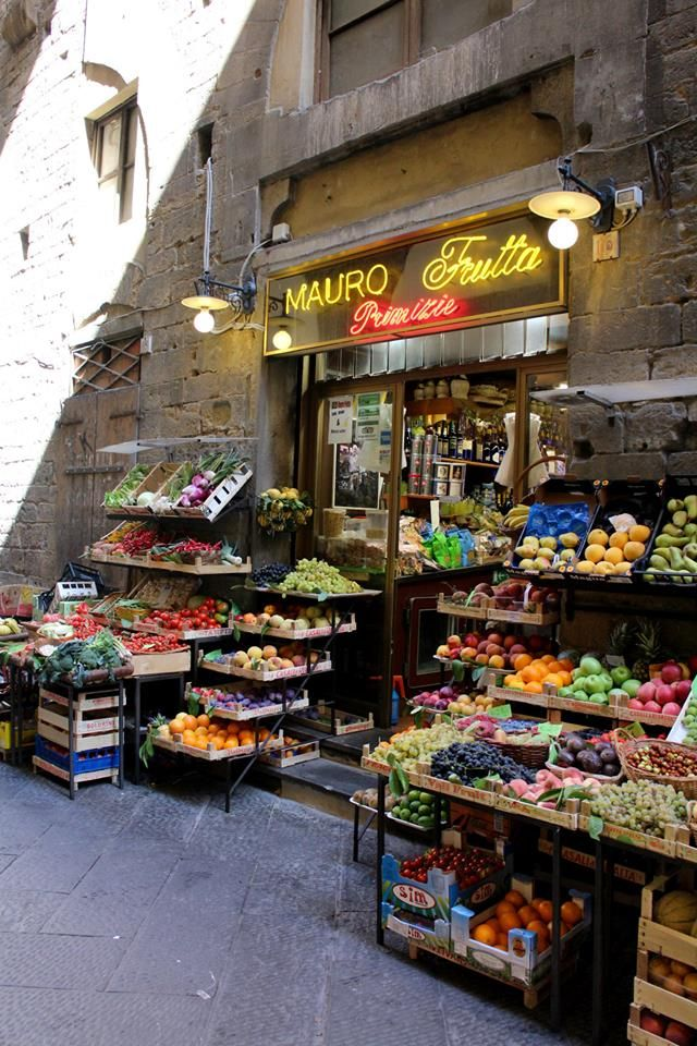 Florence greengrocer, Italy