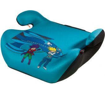 Mit der Kindersitzerhöhung Space Explorer in Blau sitzen Ihre Kinder zum einen sicher und zum anderen sehr komfortabel in Ihrem Fahrzeug.