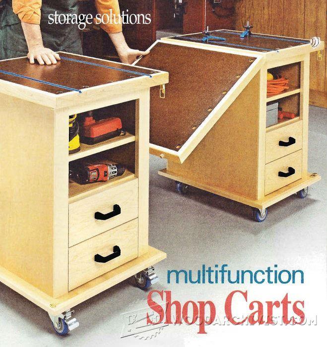 Multifunction Workshop Carts - Workshop Solutions Plans, Tips and Tricks | WoodArchivist.com