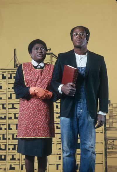 Esther Rolle and John Amos.  In this photograph, Esther Rolle is 53 and John Amos 34.  I had no idea of the age disparity.