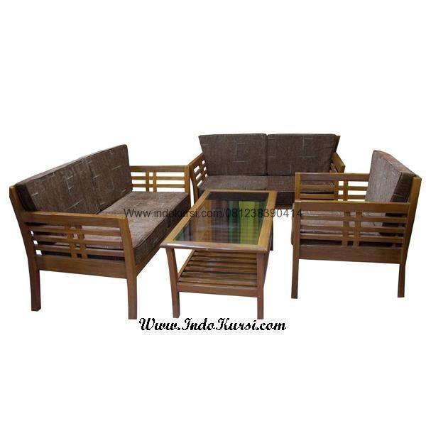 Jual Furniture HomeKursi Tamu Minimalis Kayu Jati Jari Jari merupakan desain Produk Ruang Tamu Minimalis dengan Model Bangku Sofa Jari Jari Minimalis Kayu Jati