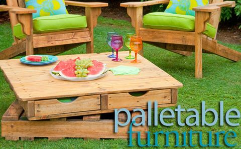 How to make a revolving table (out of pallets)  - Better Homes and Gardens - Yahoo!7